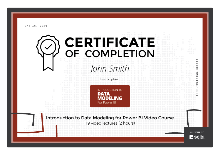 Introduction to Data Modeling for Power BI Video Course - SQLBI