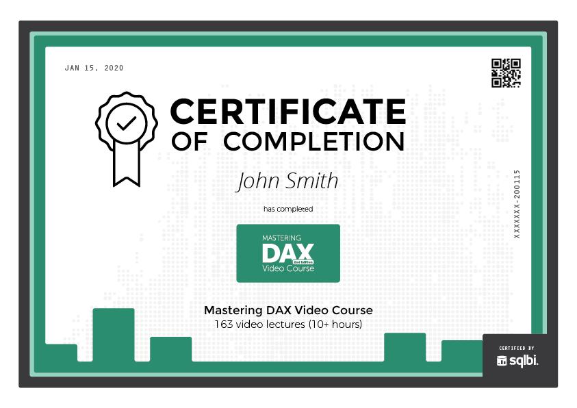 Mastering DAX Video Course - SQLBI