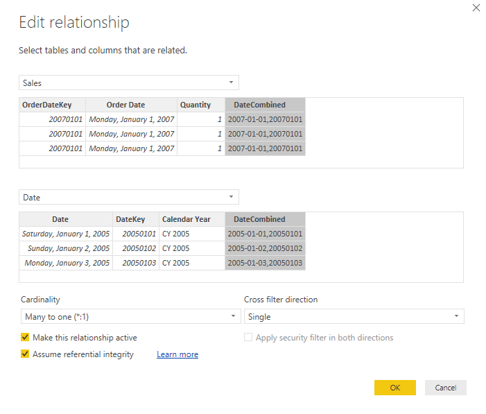 Using COMBINEVALUES to optimize DirectQuery performance - SQLBI
