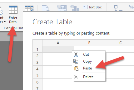 Create Static Tables in DAX Using the DATATABLE Function - SQLBI