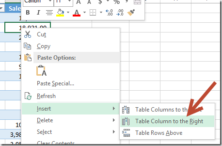 how to create nested table in excel 2016