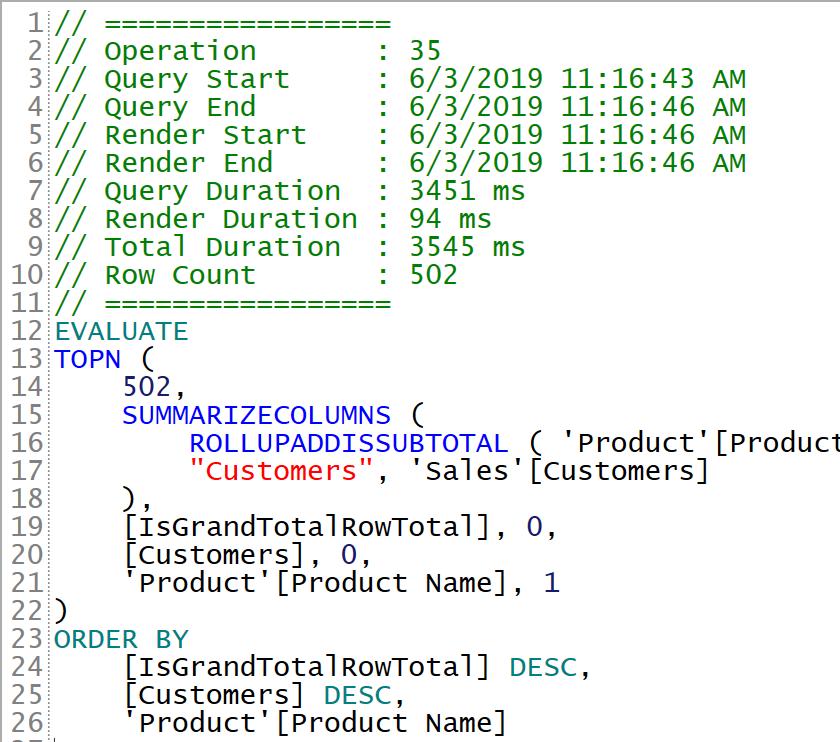 Importing Performance Analyzer data into DAX Studio - SQLBI