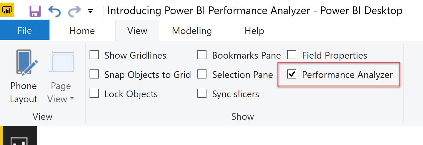Introducing the Power BI Performance Analyzer - SQLBI