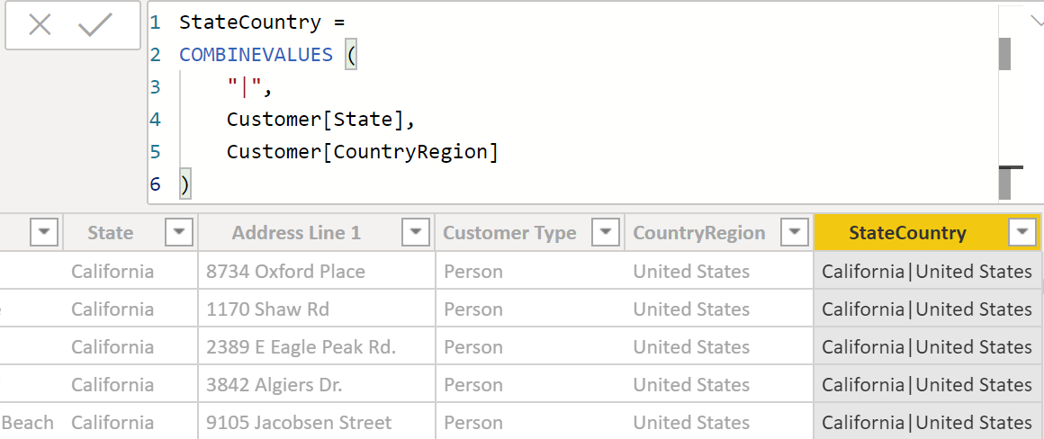 Creating a slicer that filters multiple columns in Power BI