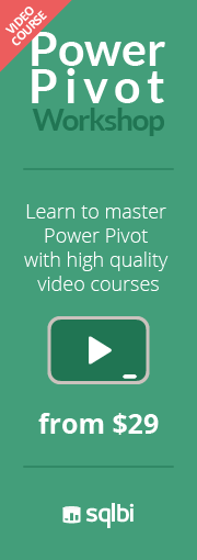 Power Pivot Video Course - 40% discount