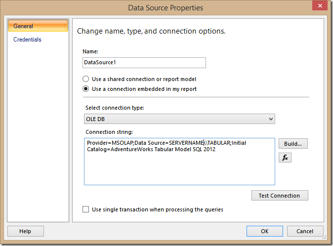 Write DAX queries in Report Builder #ssrs #dax #ssas