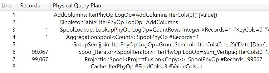 Sample query plan